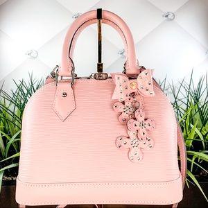 Authentic Louis Vuitton Epi Alma BB Rose Ballerine